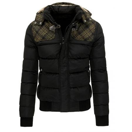 Pánská prošívaná zimní bunda černá