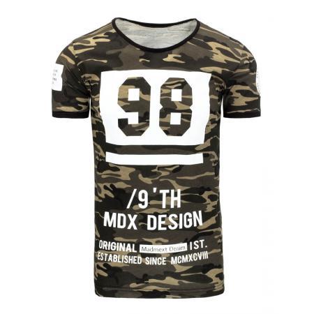 Pánské tričko s potiskem s maskáčovým vzorem 6e394e67b1