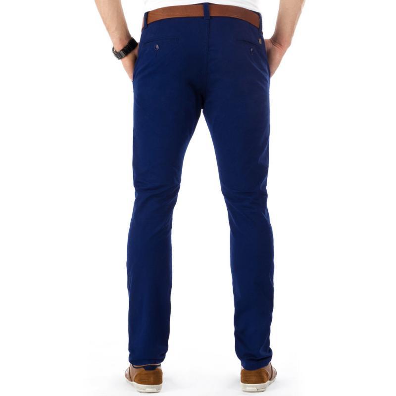 Pánské originální kalhoty tmavě modré s lehce zúženými nohavicemi ... 9c319ae148