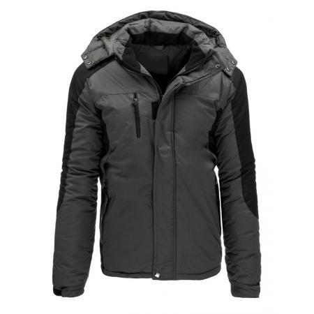 Pánská zimní lyžařská bunda v šedé barvě
