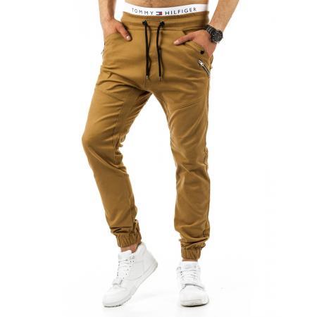 Pánské stylové kalhoty karamelové