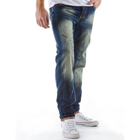 Pánské módní kalhoty s mírně zúženými nohavicemi