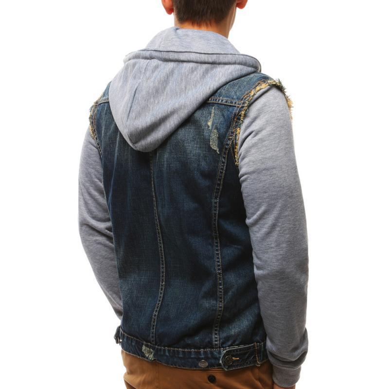 Pánská jeansová bunda modrá  b1e2cac398
