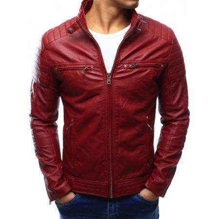 Pánská bunda kožená červená