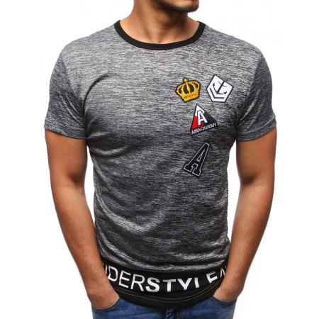 Pánské tričko s potiskem antracitová