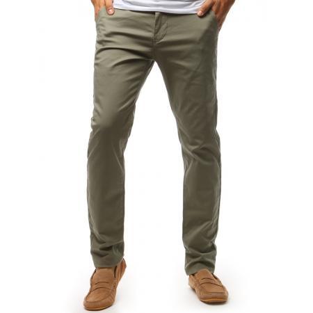 Levně Pánské STYLE chino kalhoty khaki