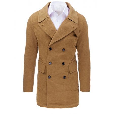 Hnědý pánský zimní kabát