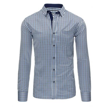 Modrá pánská košile kostkovaná