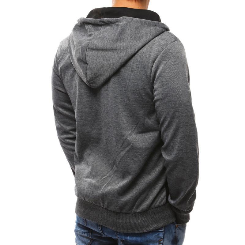 c069aa8765e Pánská moderní bunda s kapucí šedá