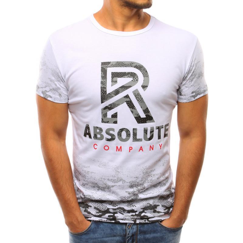 a4bd6b385a53 Pánské bílé tričko s ombre camo potiskem STYLE