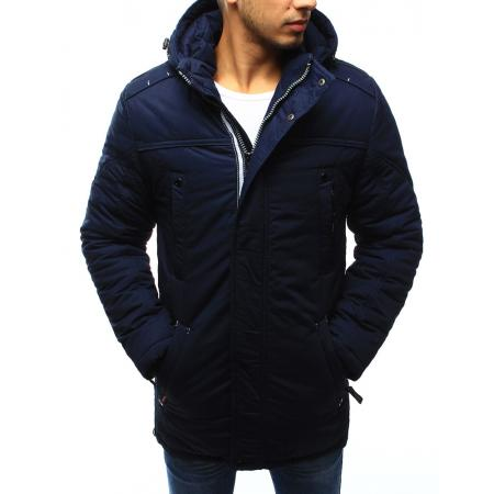 Pánská bunda zimní ciemnosvětle modrá