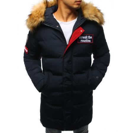 0b1e7ce7b82 Pánská prošívaná zimní bunda granátová