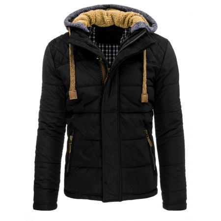 Pánská zimní prošívaná bunda černá