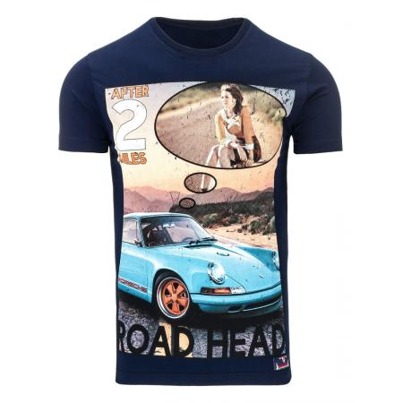 Pánské tričko s potiskem (triko) tmavě modré