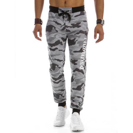 Pánské teplákové kalhoty maskáčové šedé