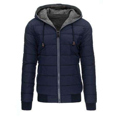 Pánská originální zimní bunda modrá