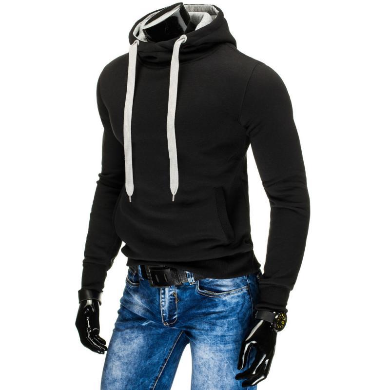 Pánská moderní mikina s kapucí černá  884565655a