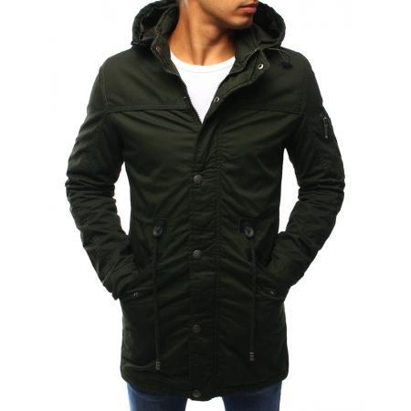 Pánská zimní bunda - parka zelená