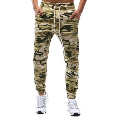 Pánské kalhoty joggery maskáčové béžové deda048431e