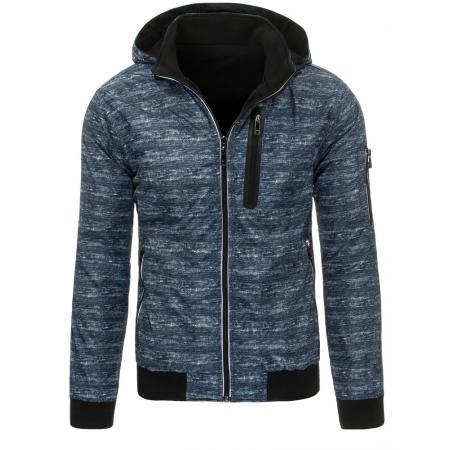 Pánská podzimní/jarní přechodová bunda oboustranná modro-černá