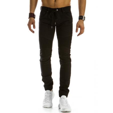 Pánské džínové kalhoty joggery černé