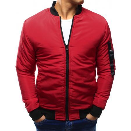Pánská bunda bomber jacket červená