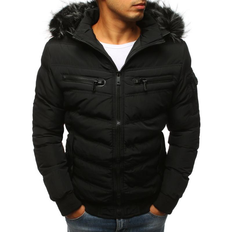 4adfadac8dc1 Pánská zimní bunda prošívaná černá