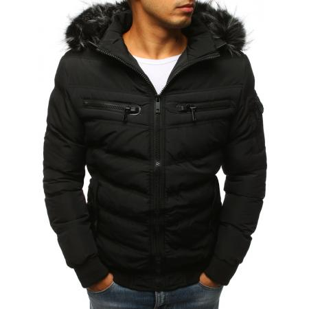 Pánská zimní bunda prošívaná černá 9ceee4c84ed