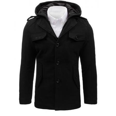 Pánský stylový černý kabát