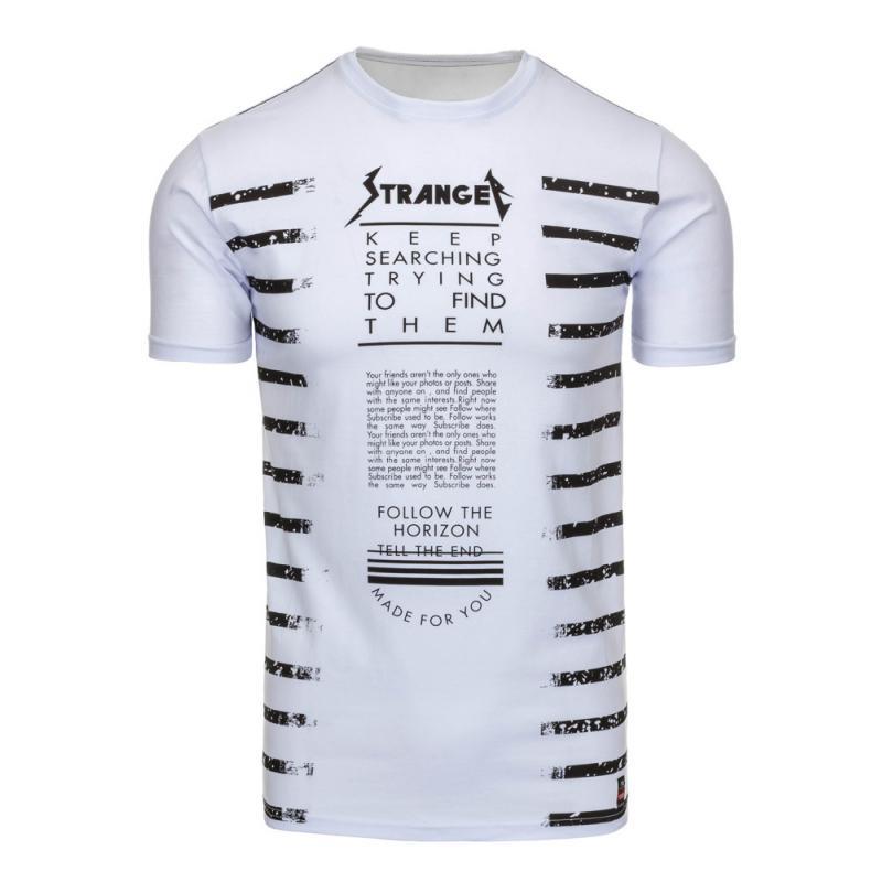 07708302d85d Pánské tričko s potiskem bílé