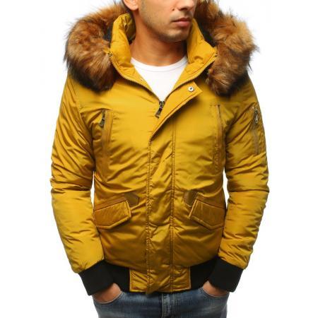 Pánská zimní bunda žlutá