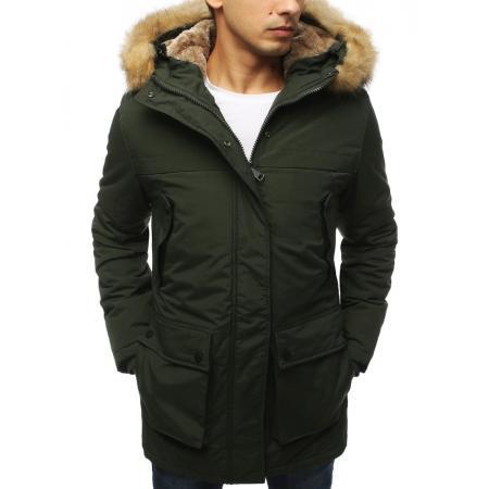 Pánská bunda parka zimní khaki TX3054