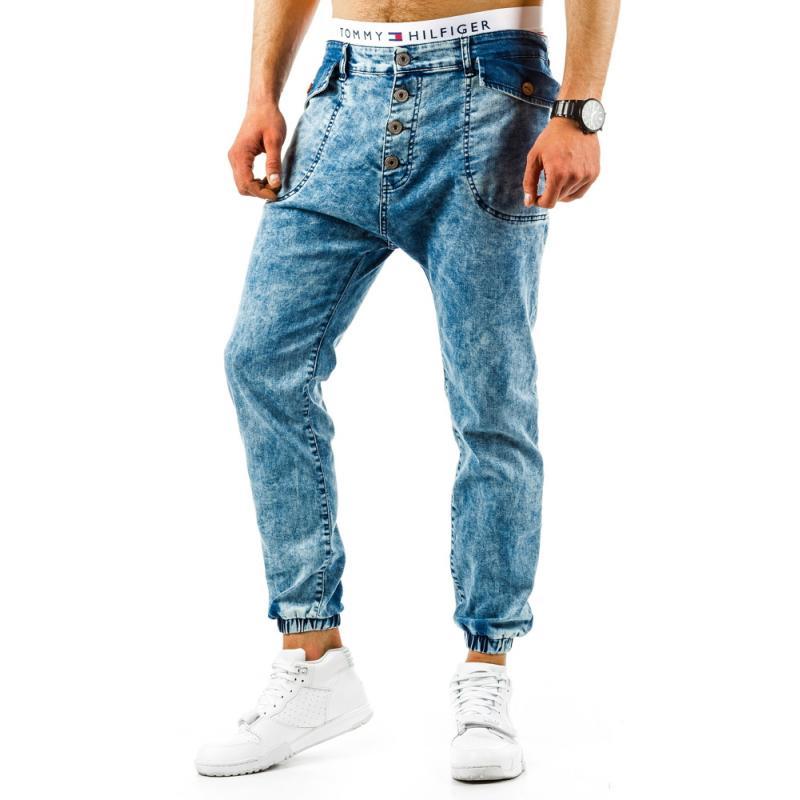 2254e5320 Pánské stylové kalhoty světle modré | manSTYLE.cz