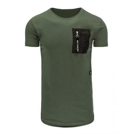 0cf5cc672f9 Pánské tričko bez potisku zelené