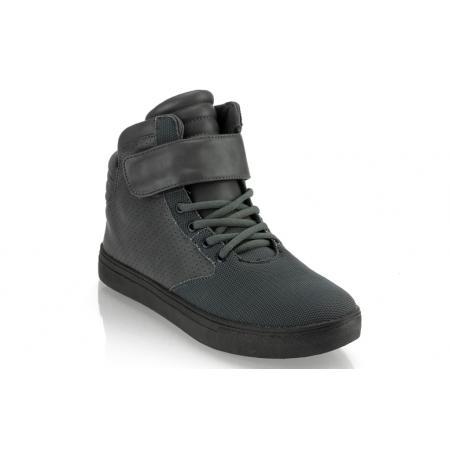Pánské kotníkové boty semiš - koženka GOV DENIM 008-5DG grafitové