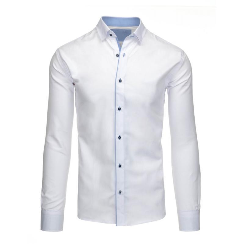 f8a780fd180 Elegantní pánská košile bílá s dlouhým rukávem