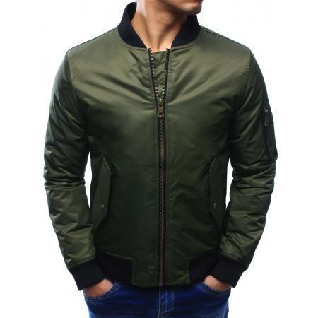 Pánská bunda bomber jacket khaki