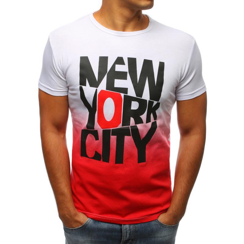 Pánské tričko bíle s potiskem New York City  a3498e1276