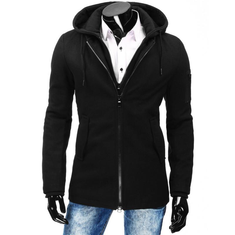 Černá pánský zimní kabát  0a38701665
