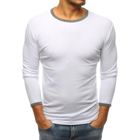 Pánské bílé tričko s dlouhým rukávem 1e7ec694fa