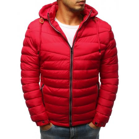 Pánská prošívaná zimní červená bunda