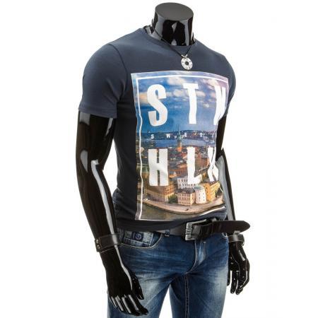 Pohodlné pánské tričko s potiskem s potiskem