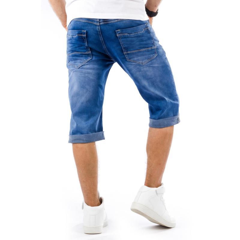 2d3d3f1e26c Pánské stylové riflové (džínové) kraťasy pod kolena
