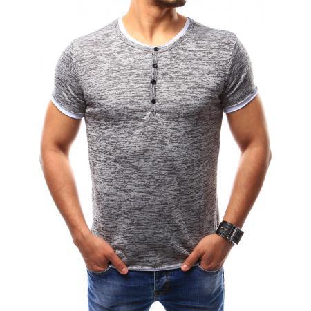 Pánské tričko bez potisku šedé