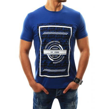 Pánské tričko s potiskem modré