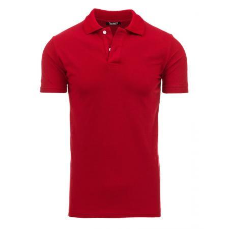 Pánské červené tričko s límečkem