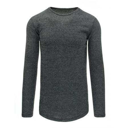 Pánský moderní svetr antracit melír