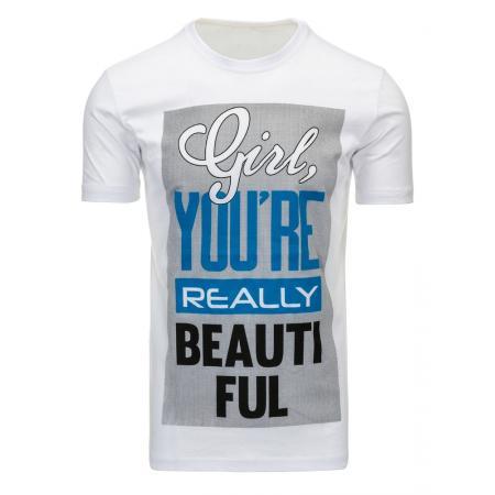 Pánské tričko s potiskem (triko) bílé