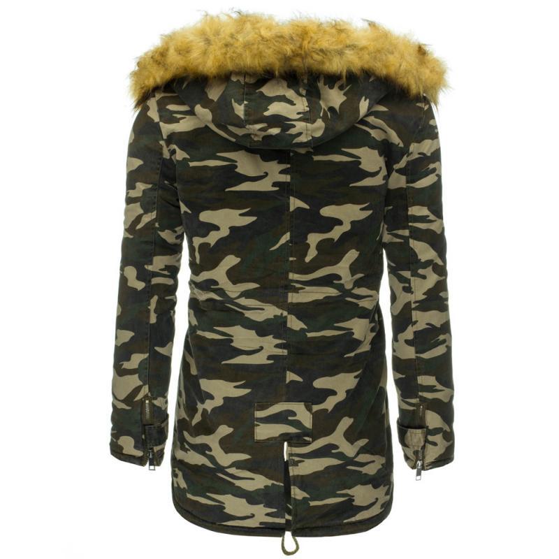 Pánská maskáčová stylová bunda (parka) s kožíškem  02757b64a3c