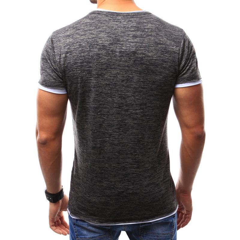 Pánské tričko bez potisku grafitová  2ac7a2fd78